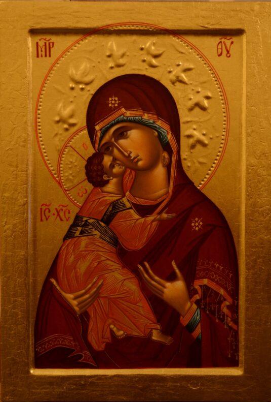 Владимирская икона Божией Матери. Иконописец Павел Вещев, 2017